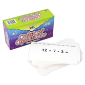 Learning Advantage, Order of Operations Flash Cards, Grades 3-8, 105 Cards