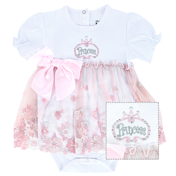 Stephan Baby, Princess Royalty Dress, Pink & White, 6 to 12 Months