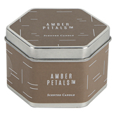 Winfield Home Decor, Amber Petals Candle Tin, Teal, 3 x 1 3/4 inches