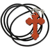 Soul Anchor, Psalm 16:8 Cord Cross Necklace with Card, Wood, Brown and Black, 24 inch Cord