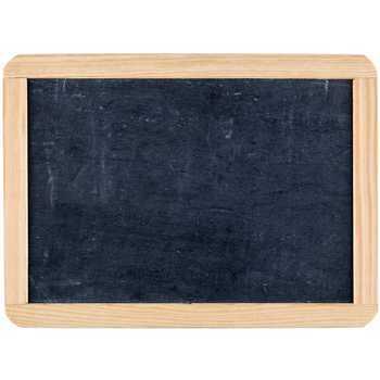 Double-Sided Black Slate Chalkboard