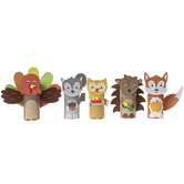 Brother Sister Design Studio, Woodland Animals Tube Craft Kit, Makes 10 Figures