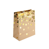 Brother Sister Design Studio, Kraft with Gold Confetti Gift Bag, 11 1/2 x 9 1/2 x 4 1/2 inches