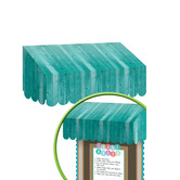 Teacher Created Resources, Shabby Chic Awning, Teal, 24 x 12 1/2 x 8 Inches, 1 Piece