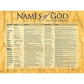 Names Of God From The Old Testament, by Rose Publishing, Wall Chart