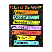 Renewing Minds, Days of the Week Chart, 17 x 22 Inches, Multi-Colored Lotsa Dots, 1 Piece