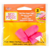 Mod Podge, Hot Glue Finger Caps, Silicone, 3-Pieces, 2-Sizes, Grades 5-12