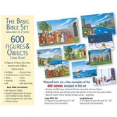 "Betty Lukens, Small Flannel Basic Bible Story Set with 6.5"" Figures, 600+ Piece Felt Set"