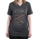 MercyMe Inc., I Can Only Imagine, Women's Short Sleeved T-Shirt, Charcoal, Small
