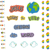 Carson Dellosa, Jesus Loves the Little Children Bulletin Board Set, 41 Pieces