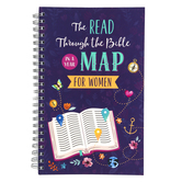 Barbour Books, The Read Through the Bible Map In A Year For Women, Purple, 192 Pages