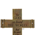 Lighthouse Christian Products, John 3:16 Rugged Wall Cross, Cast Stone, Brown, 7 5/8 x 9 5/8   inches