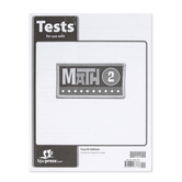 BJU Press, Math 2 Tests, 4th Edition, Paperback, Grade 2