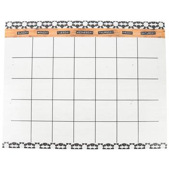 Farmhouse Lane Collection, Customizable Calendar Chart, 28 x 22 Inches, Multi-Colored, 1 Piece