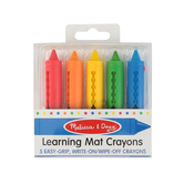 Melissa & Doug, Write-On Wipe-Off Crayons, Pack of 5