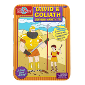 T. S. Shure, David and Goliath Magnetic Tin Playset, 21 Pieces, Ages 3 Years and Older