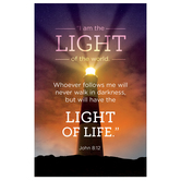 Salt & Light, John 8:12 Light Of The World Church Bulletins, 8 1/2 x 11 inches Flat, 100 Count