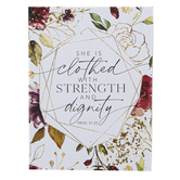 Dexsa, Proverbs 31:25 She Is Clothed With Strength & Dignity Magnet, 3 x 4 inches