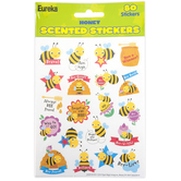 Eureka, Honey Scented Stickers, 1 x 1 Inch, Multi-Colored, Pack of 80