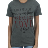 Crazy Cool Threads, Reckless Love, Women's Short Sleeve T-Shirt, Gray Heather, S-2XL
