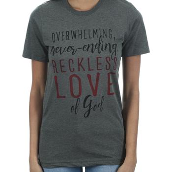 Crazy Cool Threads, Reckless Love, Women's Short Sleeve T-Shirt, Gray Heather, S-2XL