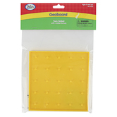 Didax, Two-Sided Geoboard with Rubber Bands, Yellow, 6 inches