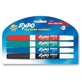 Expo Markers Assorted Fine 4/pk