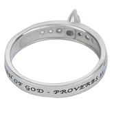 Spirit & Truth, Proverbs 31, Woman of God Regent Marquise, Women's Ring, Stainless Steel, Sizes 5-9