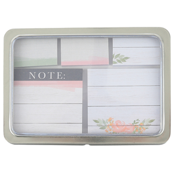 Brother Sister Design Studio, Farmhouse Sticky Note Set, 5 Notepads with 50 Sheets Each