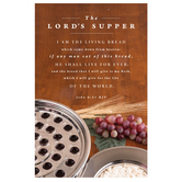 Salt & Light, The Lord's Supper Church Bulletins, 8 1/2 x 11 inches Flat, 100 Count