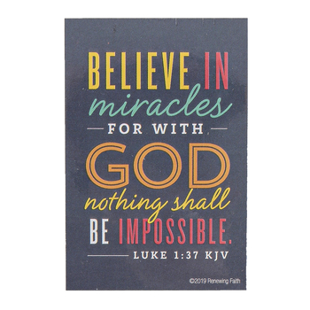 Renewing Faith, Believe In Miracles Pass Along Cards, 2 x 3 inches, Set of 10