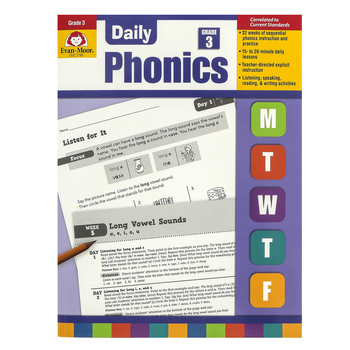 Evan-Moor, Daily Phonics Teacher's Edition, Reproducible, Paperback, 208 Pages, Grade 3