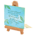 Abbey and CA Gift, Amazing Woman Mini Plaque, Wood, Blue and Green, 5 1/2 inches