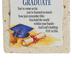 Product Concepts, Graduate Sentiment Plaque Tile, Multi-Colored, 4 x 4 Inches