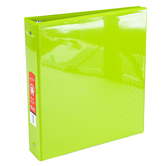 Bazic Products, Dual Pocket View Binder, Lime Green, 9 3/4 x 1 x 11 1/4 inches