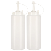 Brother Sister Design Studio, Squeeze Bottles, Plastic, Clear, 7 1/4 x 2 3/16 inches, Pack of 2