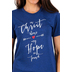 NOTW, In Christ Alone, Short Sleeve Women's T-Shirt, Navy Blue