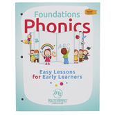 Master Books, Foundations Phonics: Easy Lessons for Early Learners, by Carrie Lindquist, Grades K-1