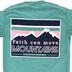 Beautifully Blessed, Matthew 17:20 Move Mountains, Women's Short Sleeve T-Shirt, Seafoam, 2X-Large