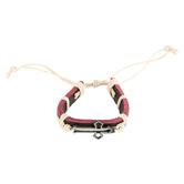 HJ Sherman, Cross Leather Bracelet, Leather, Black, One Size