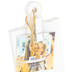Green Tree Gallery, Whitewash Mini Paddle Board Photo Frame with Clip, MDF, 5 7/8 x 3 15/16 x 2 1/4 inches