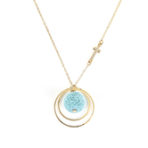 Modern Grace, Psalm 46:10 Lava Bead Pendant Necklace, Gold, 20 Inches