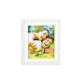 Green Tree Gallery, Flourished Edge Picture Frame, for 8 x 10 inch Picture, Creamy White, Composite