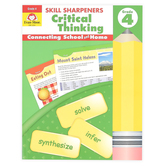 Evan-Moor, Skill Sharpeners Critical Thinking Grade 4 Activity Book, Paperback, 144 Pages, Grade 4