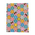 Printed Blue, Pink, and Yellow Donuts Felt Rectangle, 9 x 12 Inches, 1 Piece