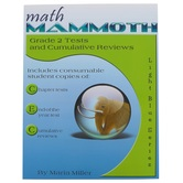 Math Mammoth, Grade 2 Tests and Cumulative Reviews, Light Blue Series by Maria Miller, Paperback, Grade 2