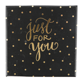 Brother Sister Design Studio, Just For You Polka Dot Gift Card Box, Black & Gold, 4 inches