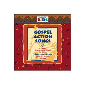 Gospel Action Songs: 17 Gospel-Style Songs for Kids, by Cedarmont Kids, CD