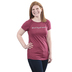 NOTW, Blessed Beyond Measure, Women's Ruched Short Sleeve T-Shirt, Cranberry, Small