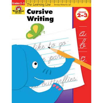 Evan-Moor, Learning Line Activity Book: Cursive Writing, 32 Pages, Grades 2-3